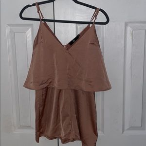 Satin layer strappy play suit